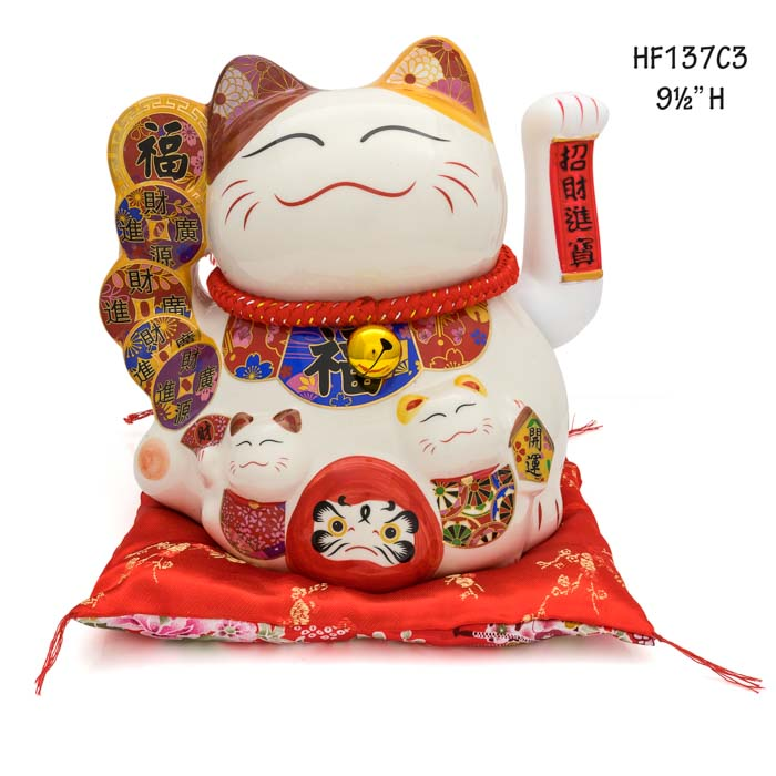 HF137C3 Lucky cat figures maneki-neko