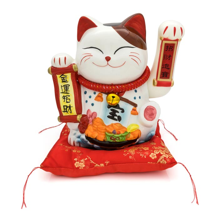 HF137C4 Lucky cat figure maneki-neko