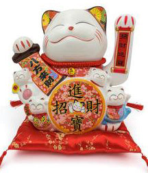 Lucky Cat Figure / HF137C5,  HF137C7 - Acubest