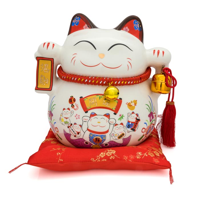 HF137D10 Lucky cat coin bank