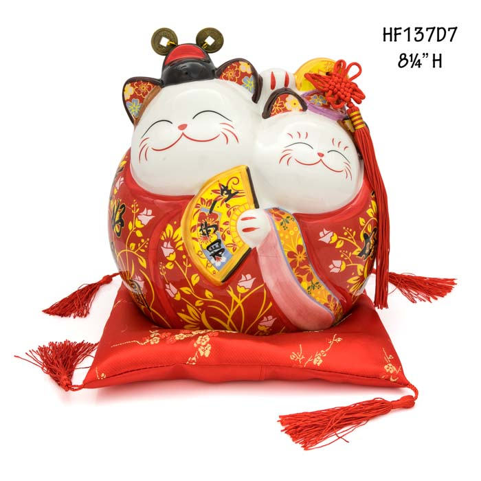 Lucky Cat Marriage Coin Bank / HF137D6-7 - Acubest