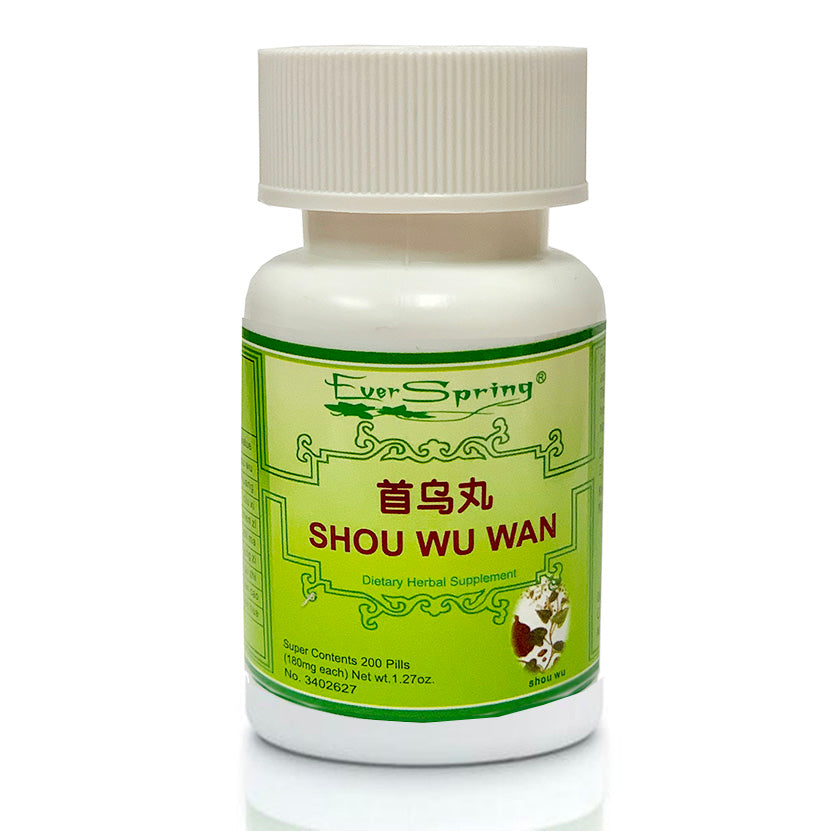 Ever Spring Shou Wu Wan (Fu Fang) Traditional Herbal Formula Pills / N027