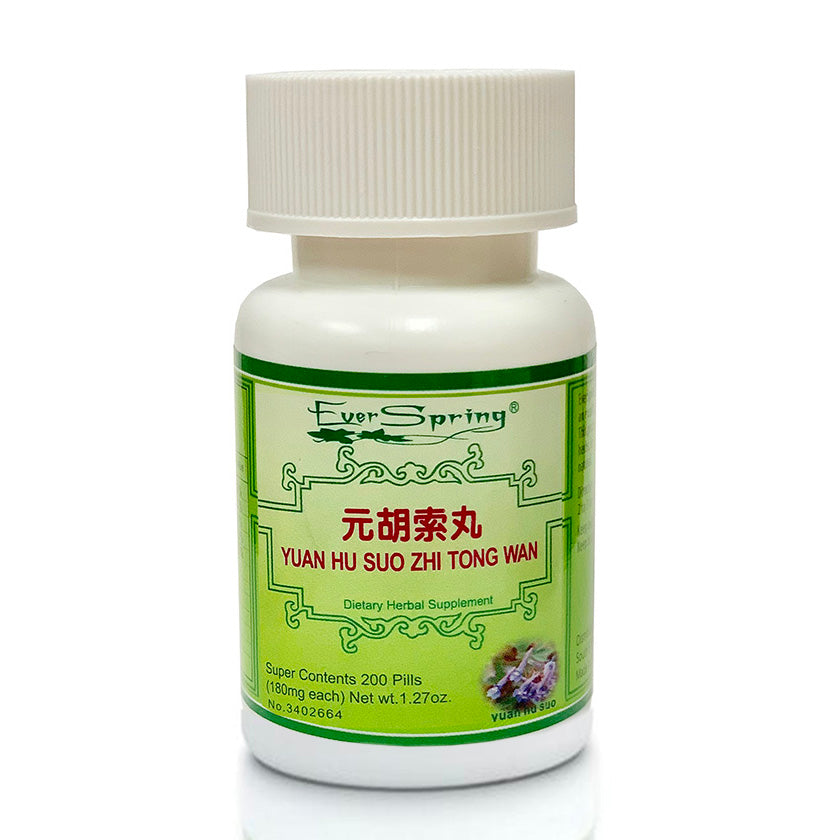 Ever Spring Yuan Hu Suo Zhi Tong Wan Traditional Herbal Formula Pills / N064