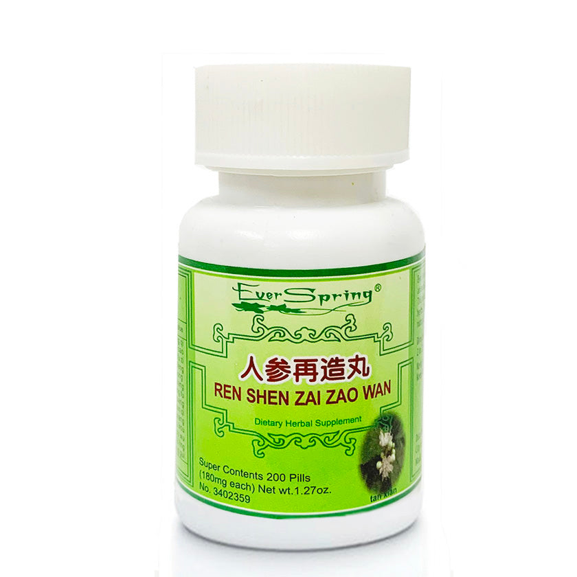 N125  Ren Shen Zai Zao Wan / Ever Spring - Traditional Herbal Formula Pills - Acubest