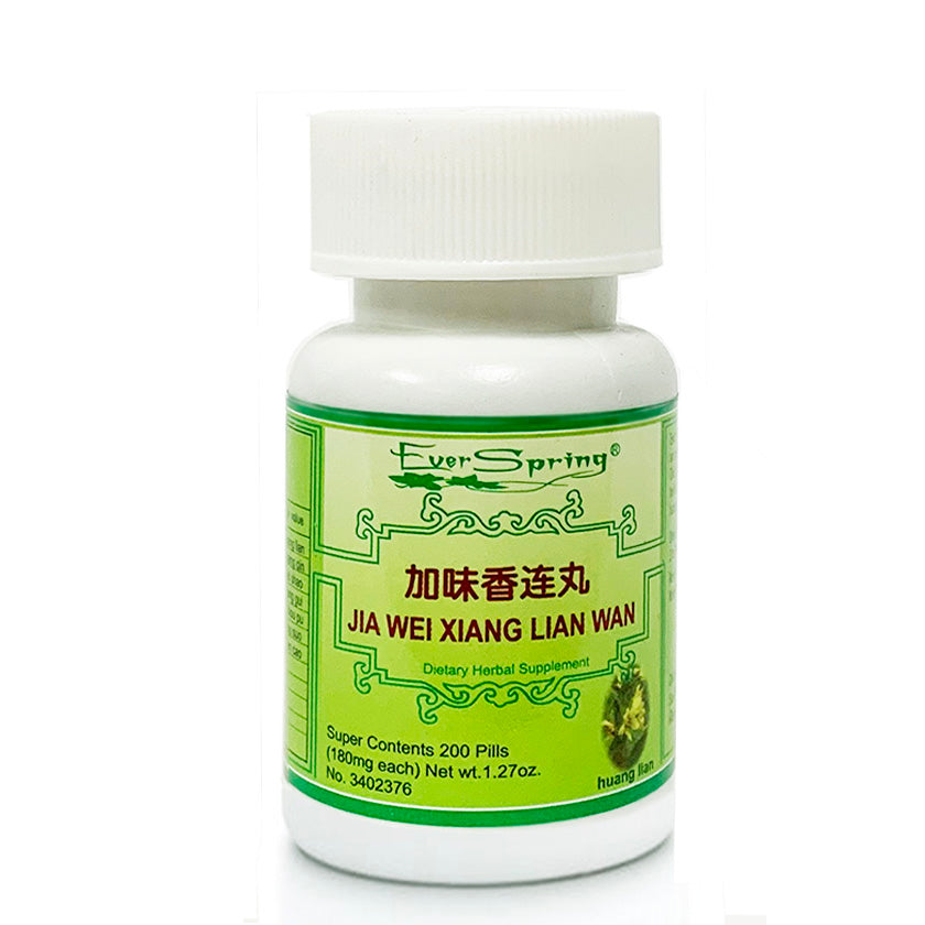 Ever Spring Jia Wei Xiang Lian Wan Traditional Herbal Formula Pills / N142