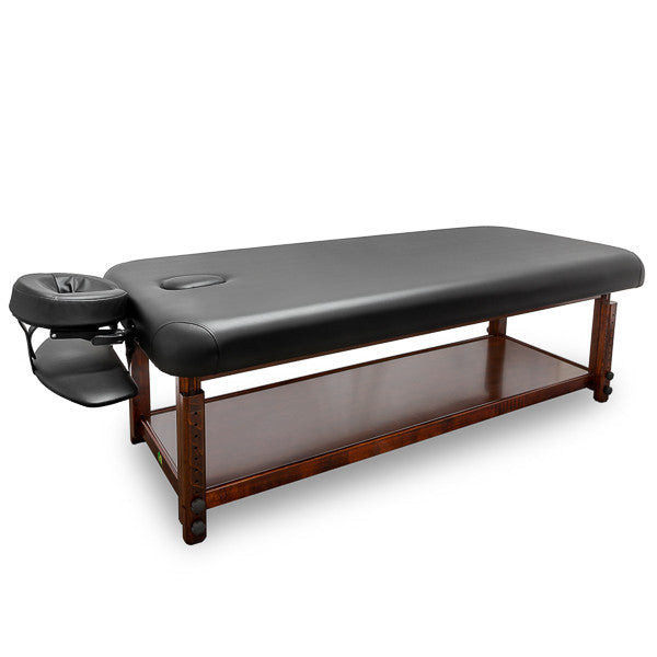 T-10F1 A&A Adjustable Wooden Framed Massage Table in black