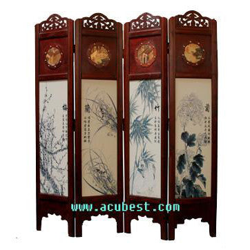 Wood Screen/Room Screens/ Folding Screen Item#T-04B5