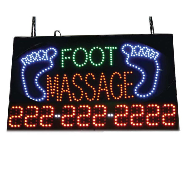 LED Foot Massage with Phone Number Sign / U-45B
