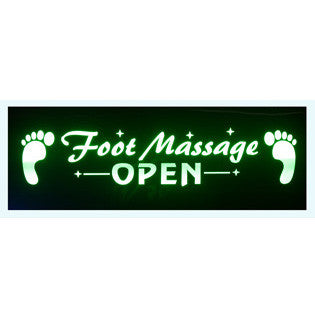 "LED ""Foot Massage"" Open Sign / U-49"