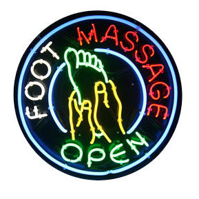 "Neon ""Open Foot Massage"" Sign / U-51A"