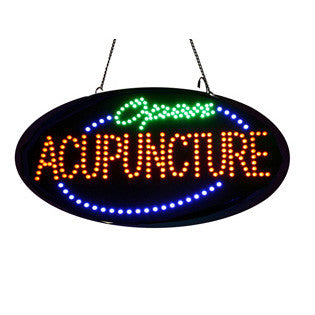 "LED ""Open Acupuncture"" Sign with Remote Control / U-52"