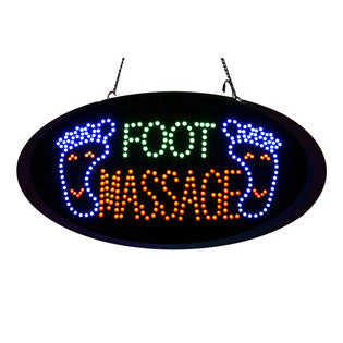 LED Foot Massage Sign with Remote Control / U-54