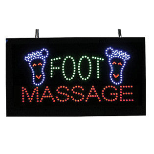 LED Foot Massage Sign with Remote Control / U-55