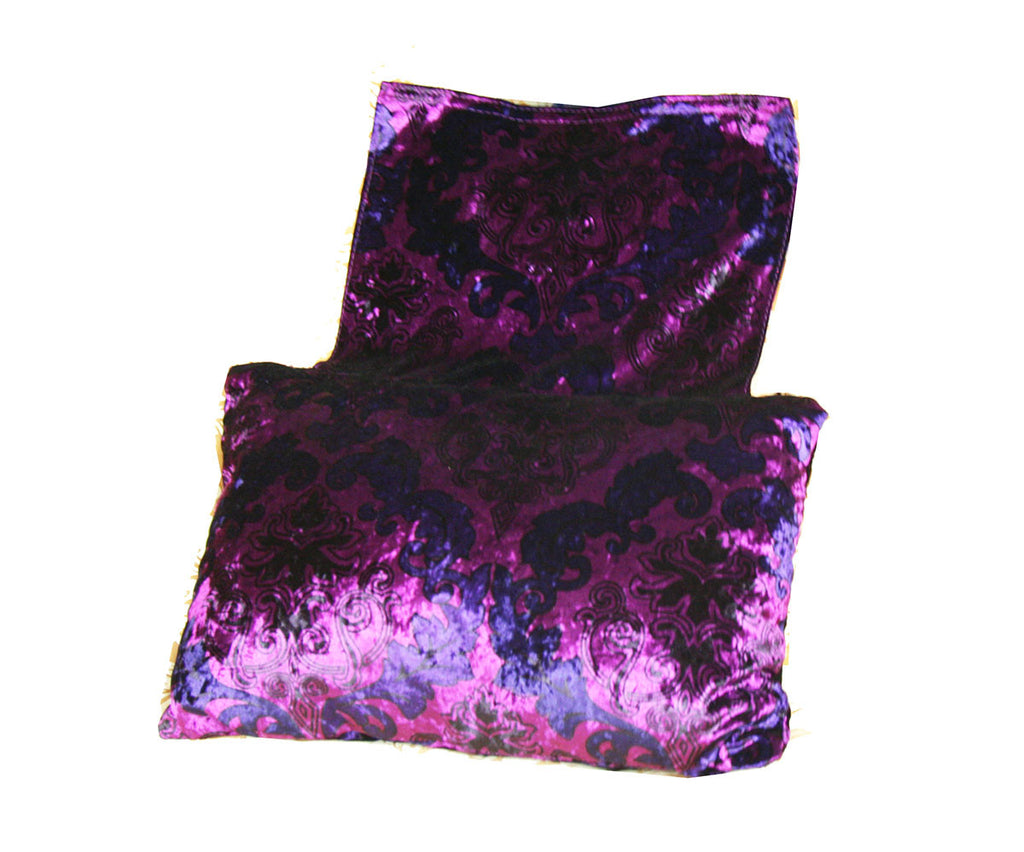 Sofa Head Pillow (Purple Floral) / W-27A1