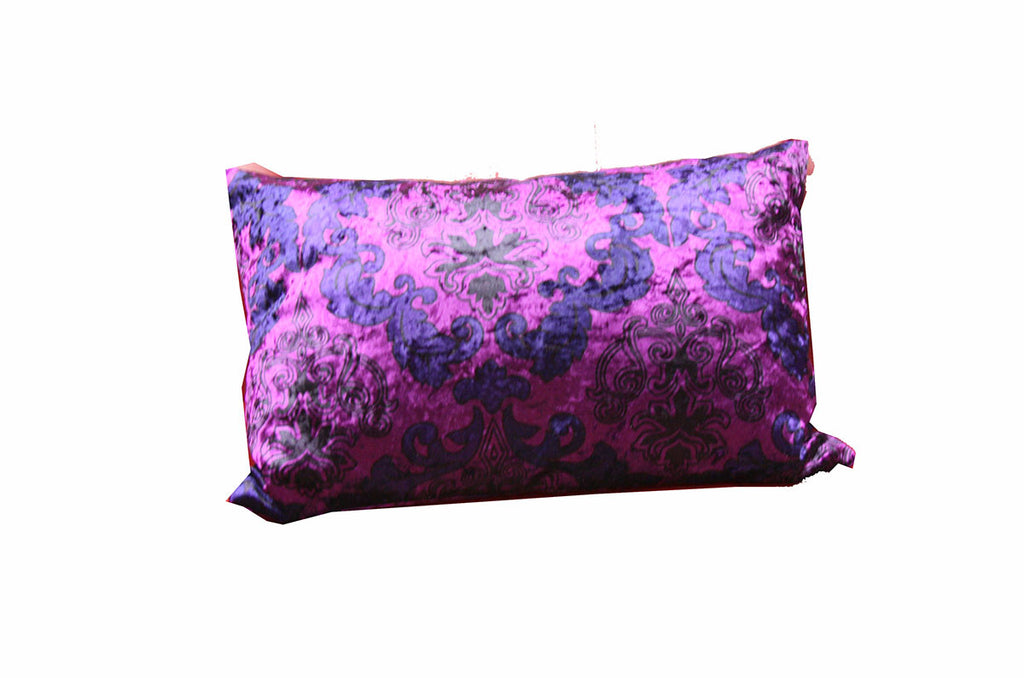 Sofa Lumbar Pillow (Purple Floral) / W-27A6