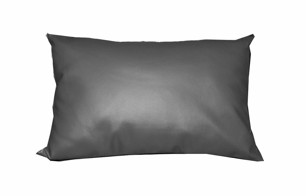 Sofa Lumbar Pillow (Black Vinyl) / W-27A7