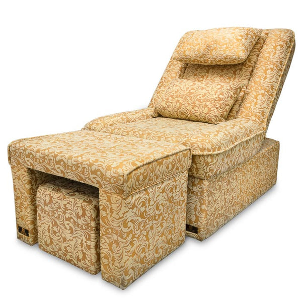 Foot Massage & Reflexology Reclining Sofa Set (Yellow Floral) / W-39C1