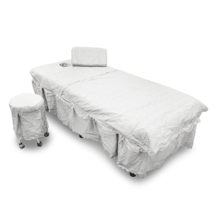 X-16B1 Massage Table Cover with Skirt 4-pcs. - Acubest