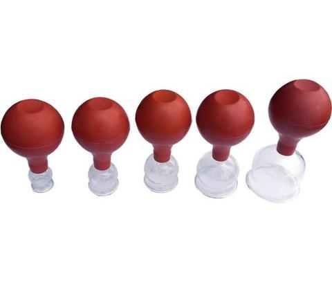 Glass cupping Set with Rubber Bulb   Item# C-22