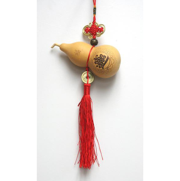 HF136A2 Natural Feng Shui Gourd Calabash Exorcism Lucky Blessing Charm Decor - Acubest