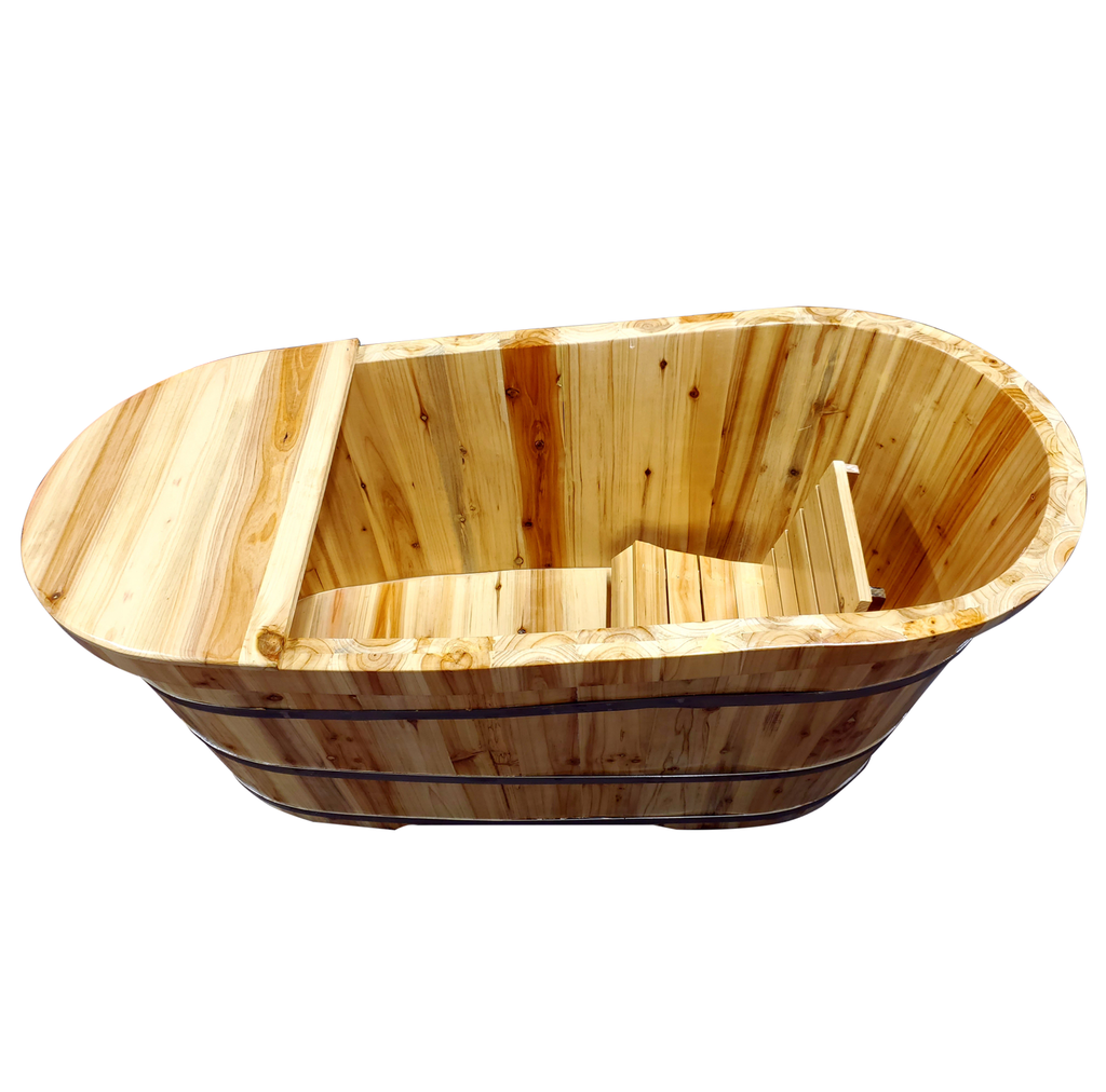 Large wooden bathtub with lid/ E-40A - Acubest