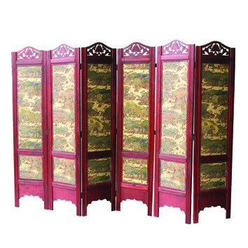 Wooden Framed Folding Screen Room Divider / T-04C2