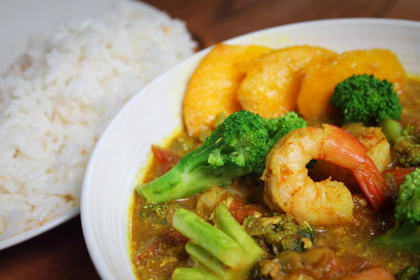 Shrimp Mango Coconut Curry