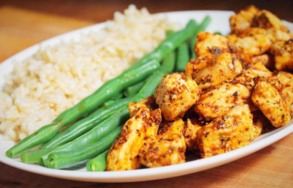 Cajun Chicken with Green Beans and Jasmine Rice