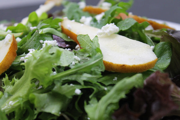 Organic Pear and Goat Cheese Salad