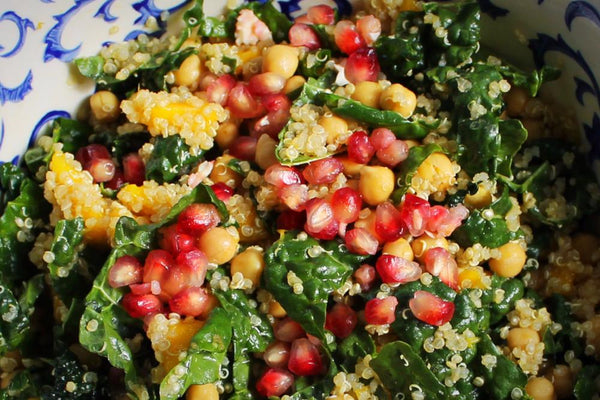 Kale and Chickpea Salad with Mango