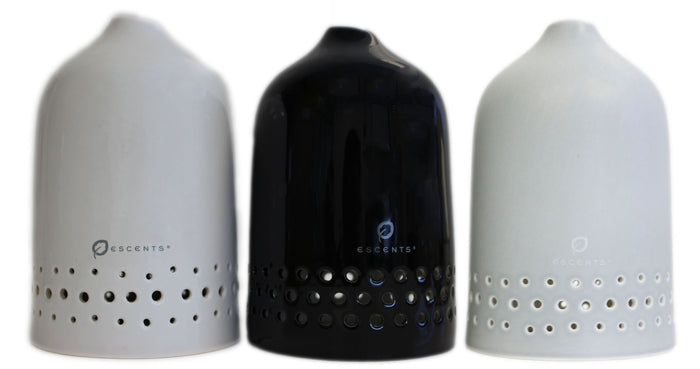 Aura Diffuser - Grey, Black & White Lids - LIDS ONLY - Escents Aromatherapy Canada ?id=4832302366765