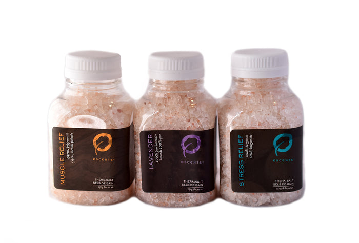 Bath Salt Trio (Muscle Relief, Lavender and Stress Relief)
