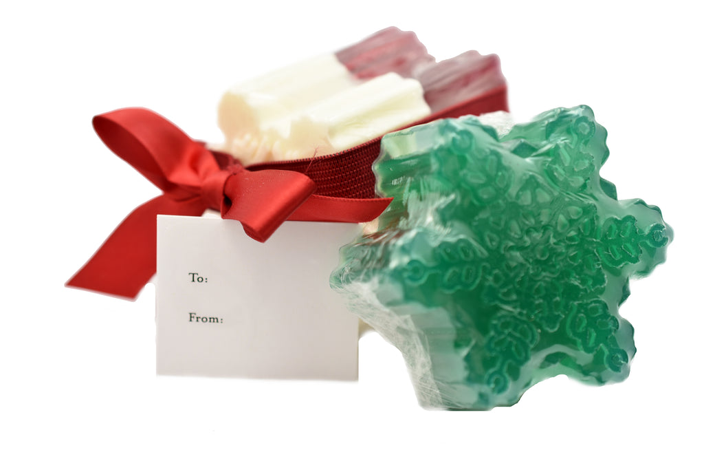 Christmas Snowflake Soap Trio Set
