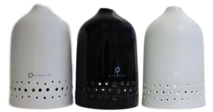 Aura Diffuser - Grey, Black & White Lids - LIDS ONLY - Escents Aromatherapy Canada
