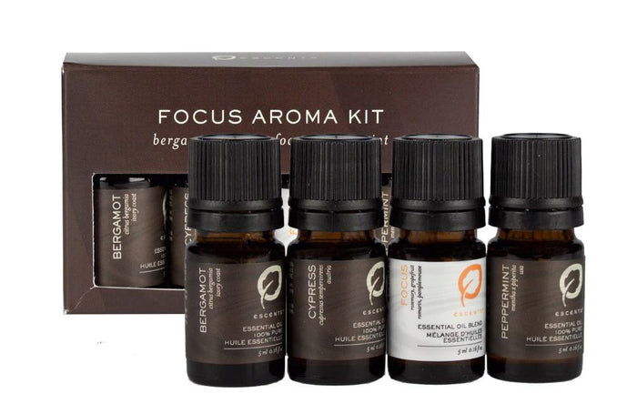 Focus Aroma Blend 5ml Set - Escents Aromatherapy Canada