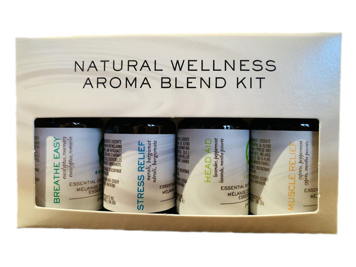 Natural Wellness Blend Kit 4x5ml ( Muscle Relief, Head-Aid, Stress Relief and Breathe Easy)