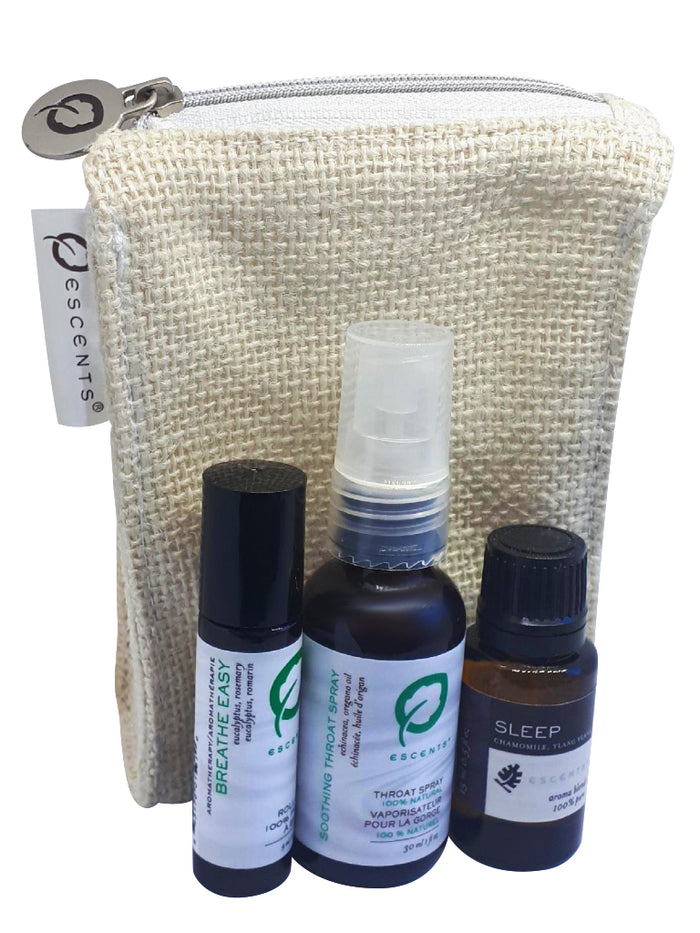 Throat Spray 3 Pce Wellness Pack - Escents Aromatherapy Canada