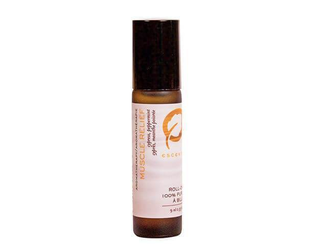 Roll-On Muscle Relief 9 ml. / .33 fl. oz. - Escents Aromatherapy Canada
