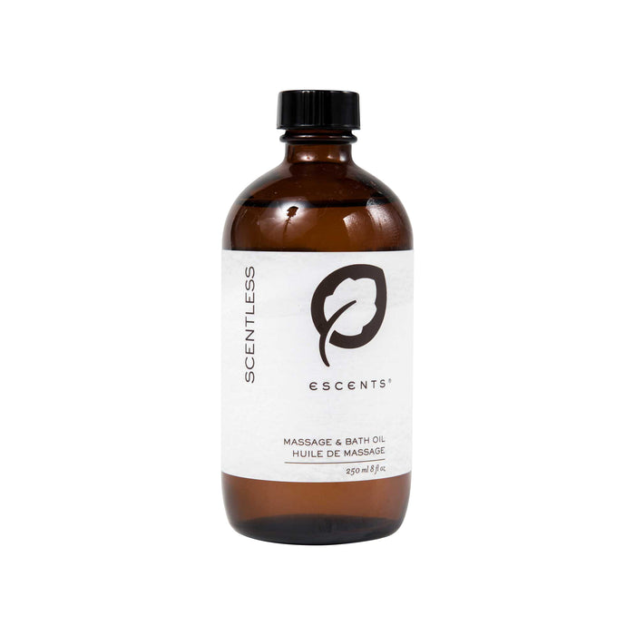 Pure Nourishing Argan Bath Oil  - 250 ml. / 8.4 fl.oz. (Scentless) - Escents Aromatherapy Canada