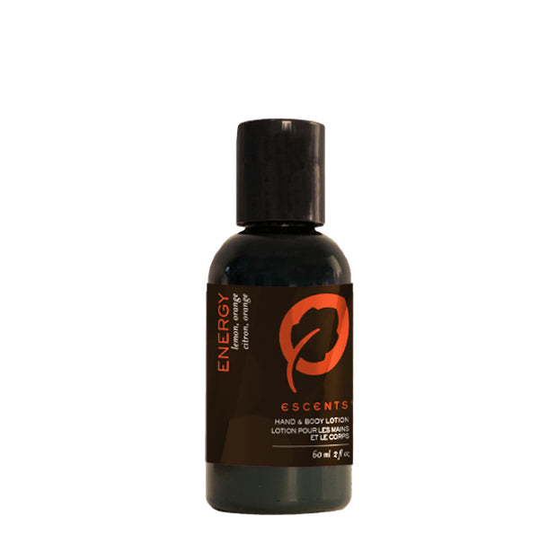 Hand & Body Lotion Energy Travel Size - 60 ml. / 2 fl. oz. - Escents Aromatherapy Canada