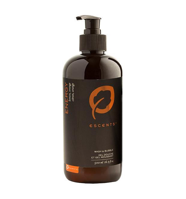 Wash & Bubble Energy 500 ml. / 16.9 fl. oz. - Escents Aromatherapy Canada