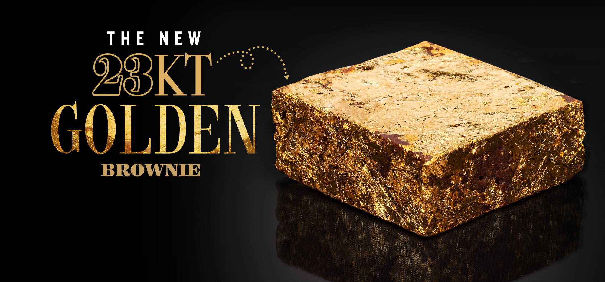 23kt golden brownie | Juliette & Chocolat