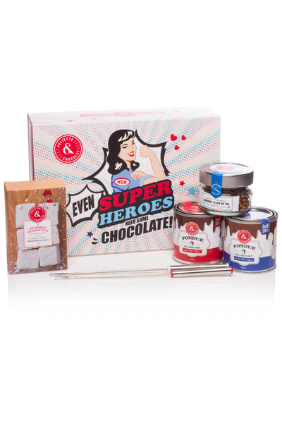 Gift set - Super Heroes (Chocolate Fondues)
