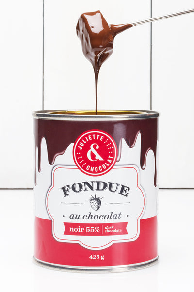 Dark 55% chocolate fondue (425g)