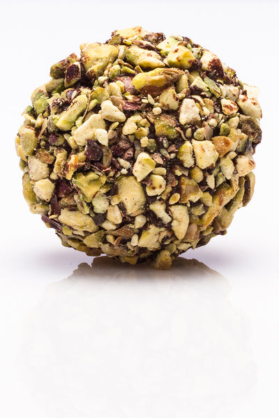 Pistachio and chocolate Rocher by Juliette & Chocolat