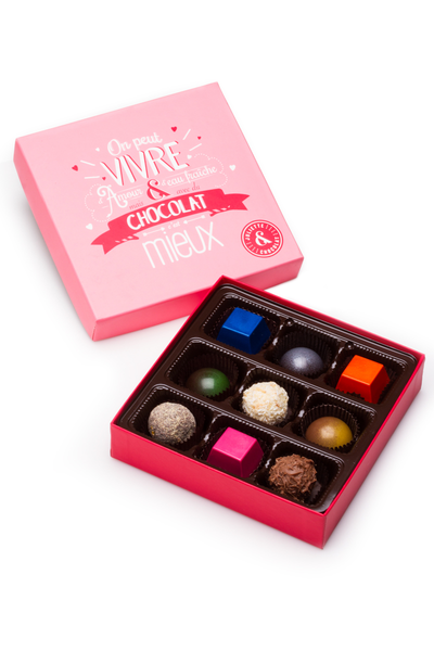 Chocolate candies box (9 chocolates) - Special Edition