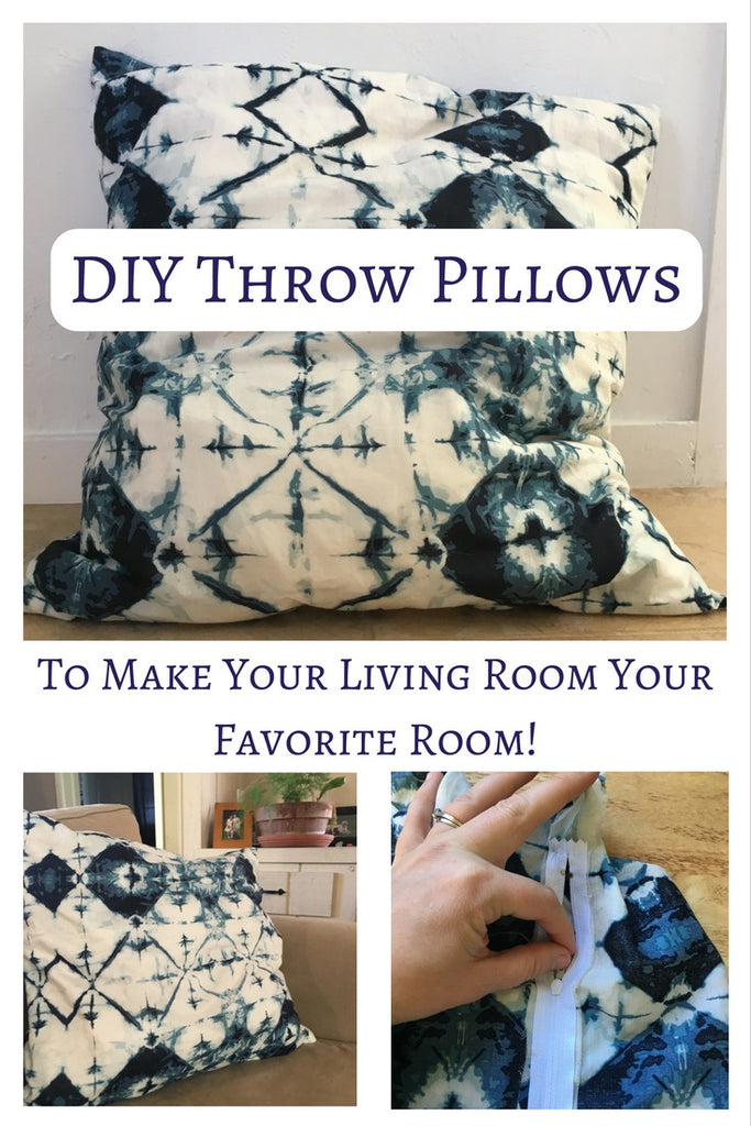 Throw Pillow Tutorial - The Easiest Way to Add Tons of Gorgeous to your Home!