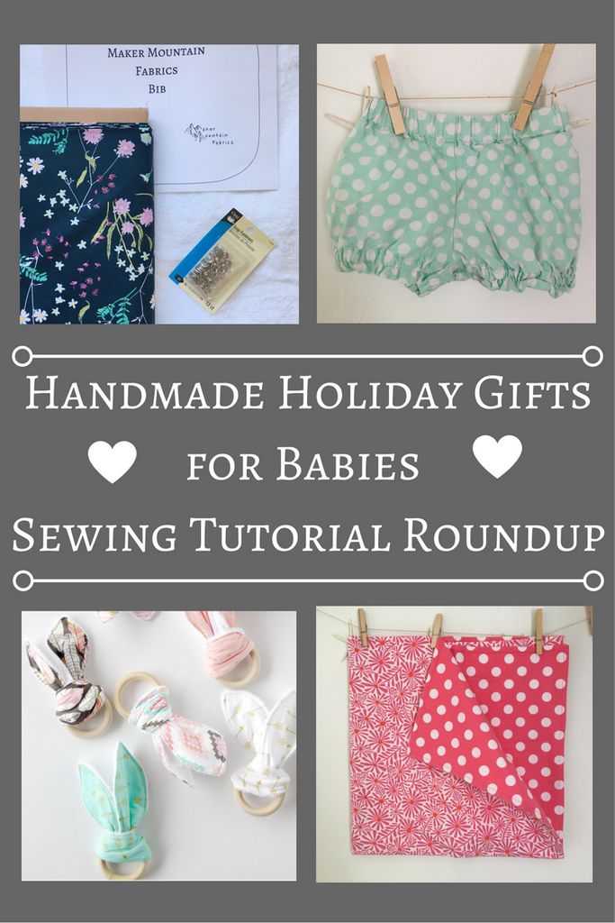 5 Handmade Christmas Gifts for Babies - A Sewing Tutorial Roundup