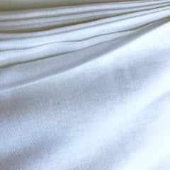 White essex linen fabric, close up to show how it is woven