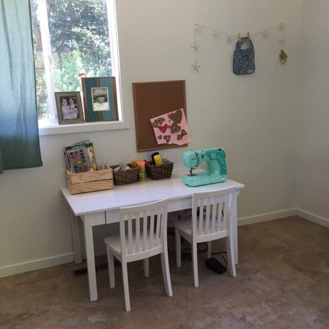 Sewing room make over after